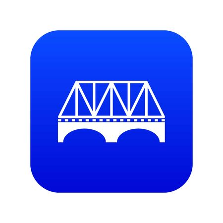 Railway arch bridge icon blue