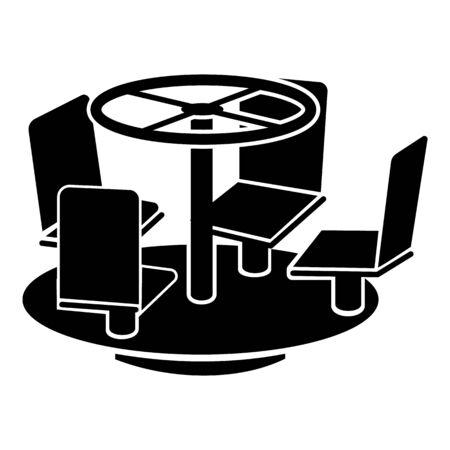 Yard carousel icon, simple style