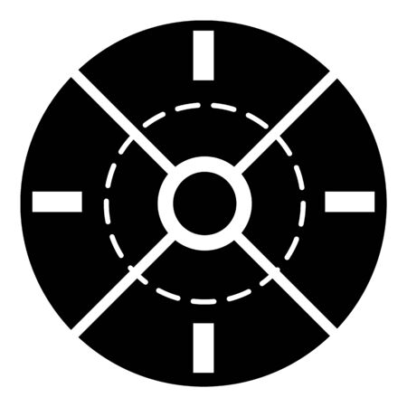 Game crosshair icon, simple style