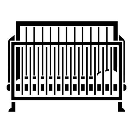 Crib icon, simple style