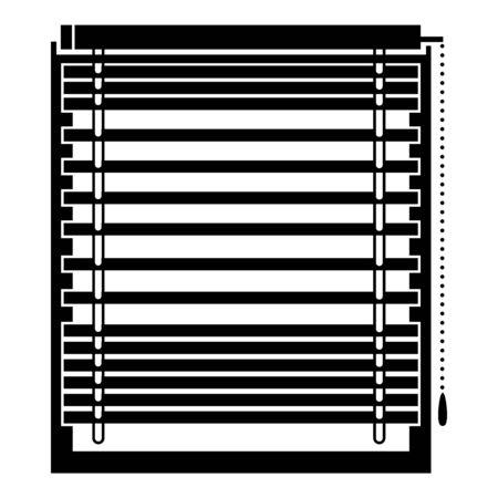 Horizontal jalousie icon, simple style Reklamní fotografie