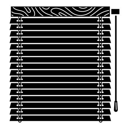 Window jalousie icon, simple style