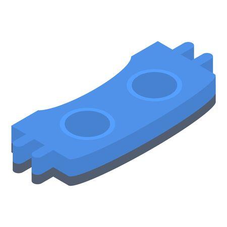 Car brake pad icon, isometric style