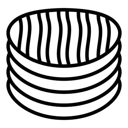Potato chips icon, outline style Stock Photo
