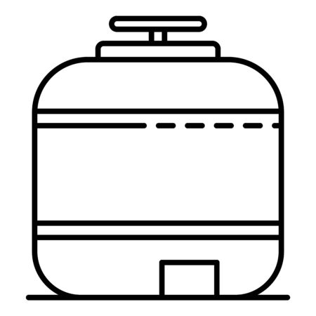 Reserve pool tank icon, outline style