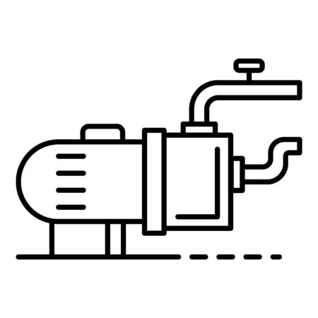 Pool motor pump icon, outline style