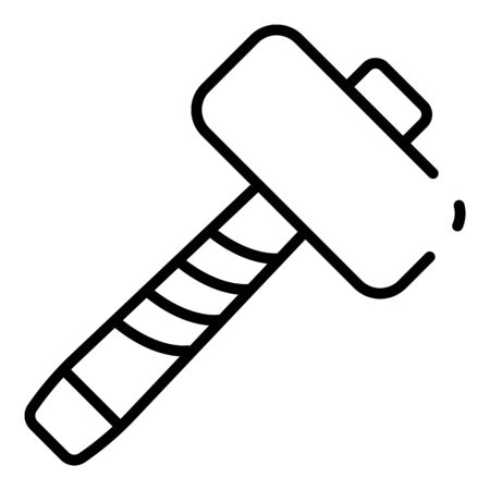 Big hammer icon, outline style Banco de Imagens