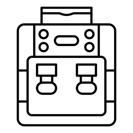 Purified water cooler icon, outline style Фото со стока