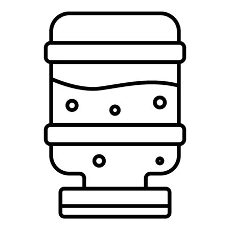 Mineral water cooler icon, outline style