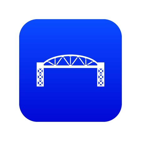 Metal bridge icon blue isolated on white background