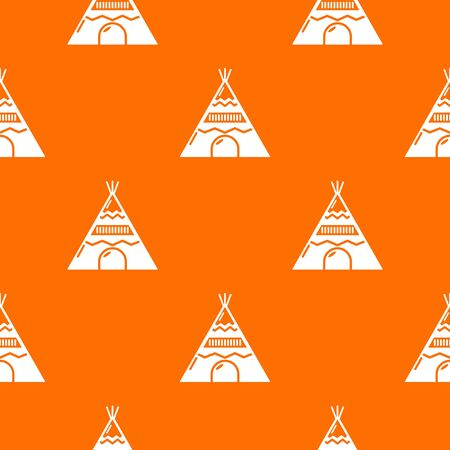 Indian tent pattern orange for any web design best Stock Photo