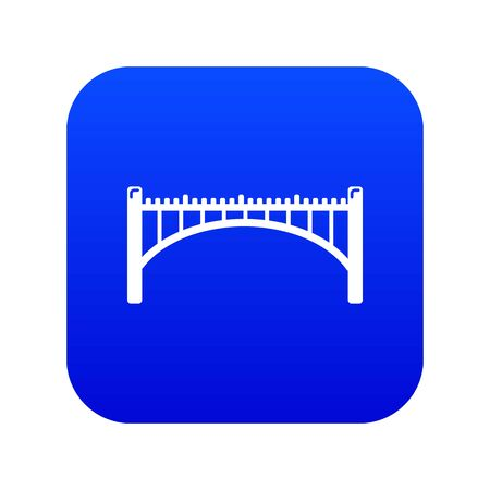 Road arch bridge icon blue isolated on white background