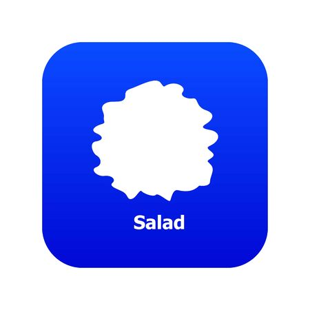 Salad icon blue isolated on white background Zdjęcie Seryjne