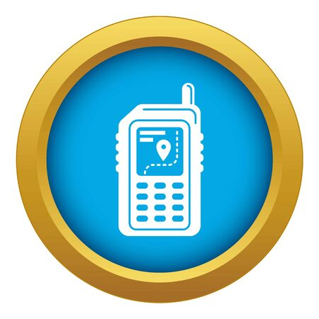 Hiking gps device icon blue isolated on white background for any design Banque d'images