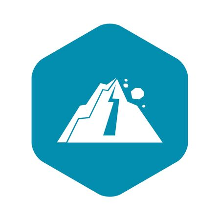 Rockfall icon in simple style isolated illustration 写真素材