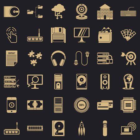 Web developmen icons set. Simple style of 36 web developmen icons for web for any design