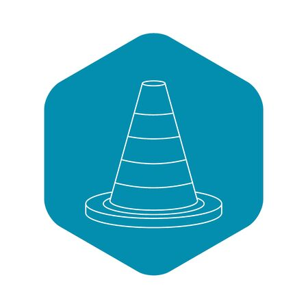 Traffic safety cone icon. Outline illustration of traffic safety cone icon for web