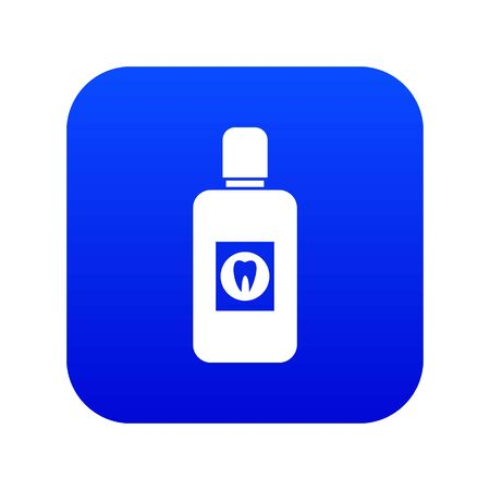 Bottle of green mouthwash icon digital blue for any design isolated on white illustration