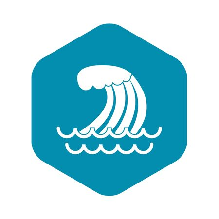 Tsunami wave icon in simple style isolated illustration Фото со стока