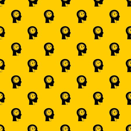 Time management pattern seamless repeat geometric yellow for any design
