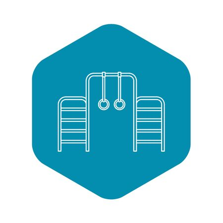 Gymnastics rings and ladder icon. Outline illustration of gymnastics rings and ladder icon for web