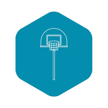 Outdoor basketball hoop icon. Outline illustration of outdoor basketball hoop icon for web