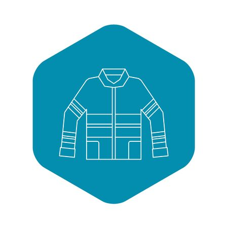 Fireman jacket icon. Outline illustration of fireman jacket icon for web Archivio Fotografico
