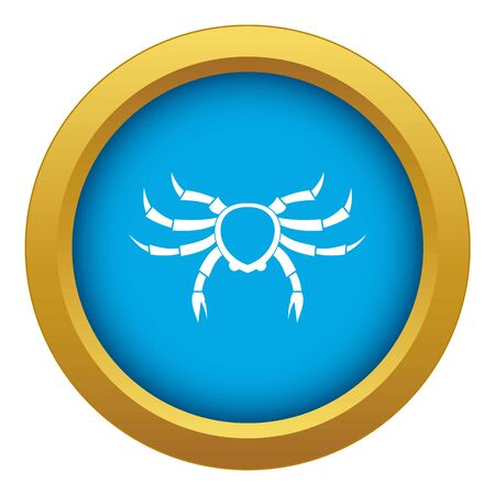 Crab sea animal icon blue isolated on white background for any design