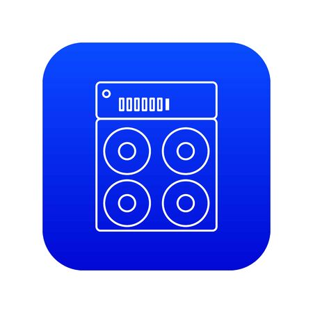 Speaker box icon blue isolated on white background Фото со стока