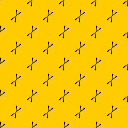 Cotton buds pattern seamless repeat geometric yellow for any design