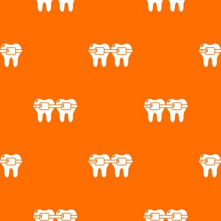 Dental brace pattern orange for any web design best