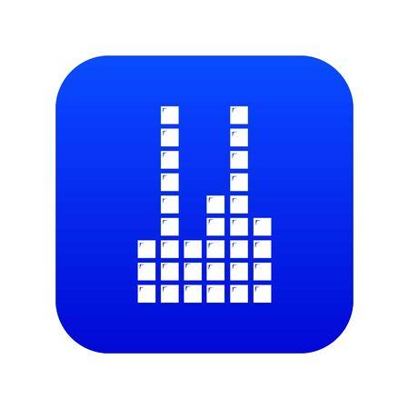 Equalizer icon blue isolated on white background
