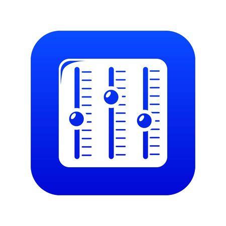 Sound mixer icon blue isolated on white background Stock Photo