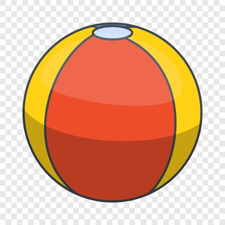 Colorful beach ball icon, cartoon style