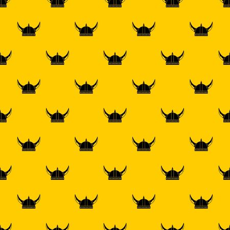 Viking helmet pattern seamless vector repeat geometric yellow for any design