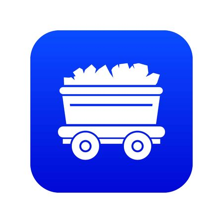 Mine cart icon, simple style 向量圖像