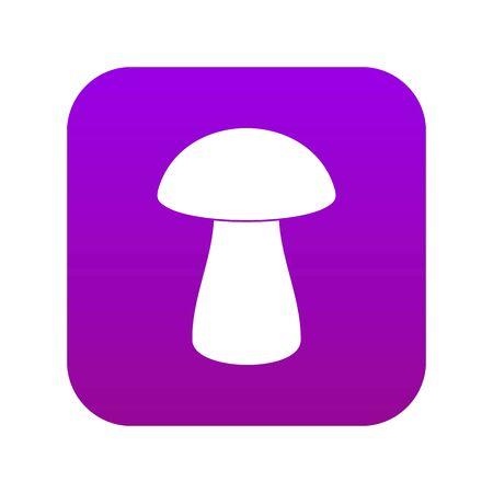Fungus boletus icon digital purple