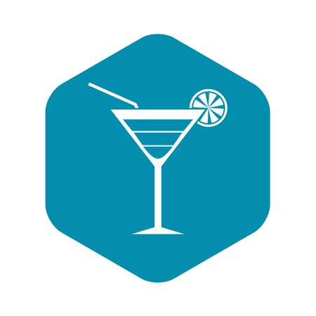 Beach cocktail icon. Simple illustration of beach cocktail vector icon for web