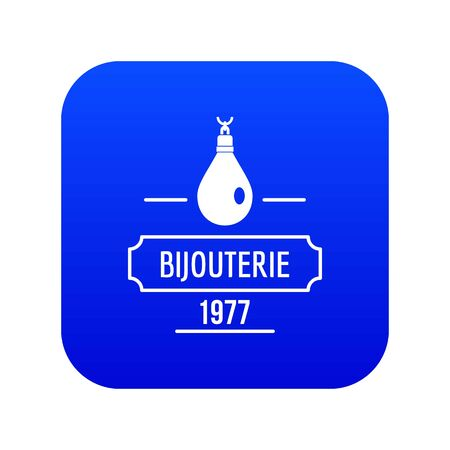 Bijouterie icon blue vector Illustration