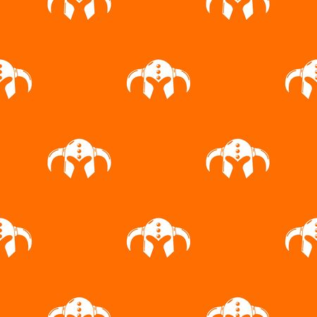 Viking helmet classic pattern vector orange for any web design best