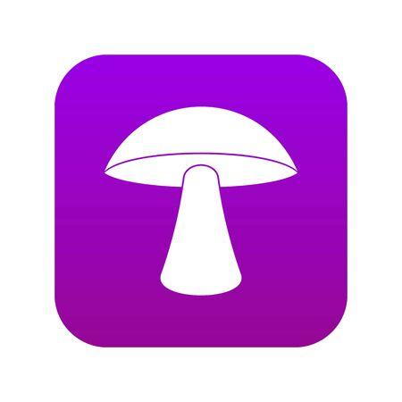Birch mushroom icon digital purple Illustration