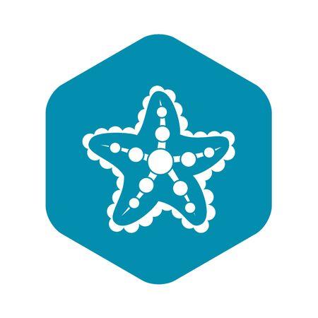 Starfish icon, simple style
