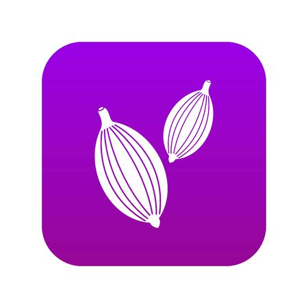 Cardamom pods icon digital purple for any design isolated on white vector illustration