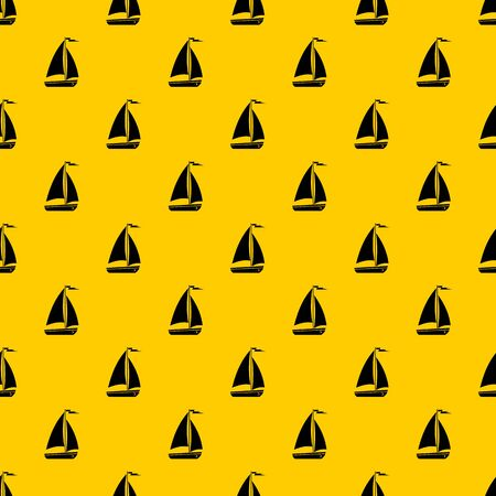 Boat pattern seamless vector repeat geometric yellow for any design