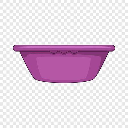 Plastic basin icon, cartoon style Ilustração