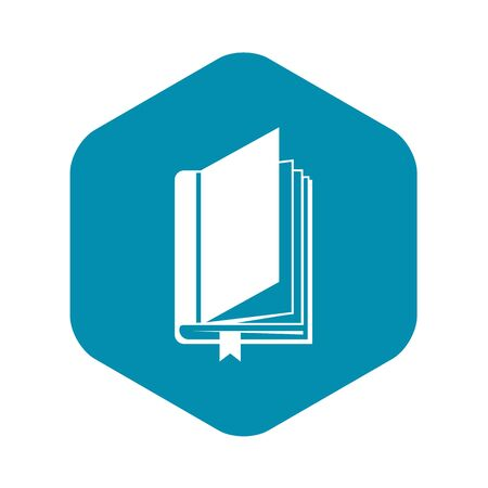 Book with bookmark icon. Simple illustration of book with bookmark vector icon for web