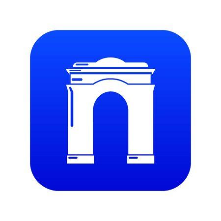 Archway big icon, simple black style