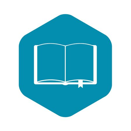 Open book with bookmark icon. Simple illustration of open book with bookmark vector icon for web
