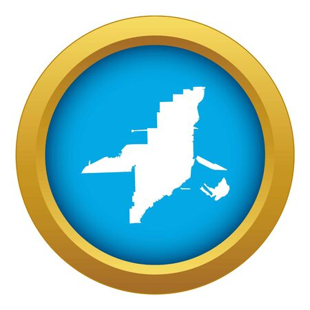 Florida map icon blue vector isolated