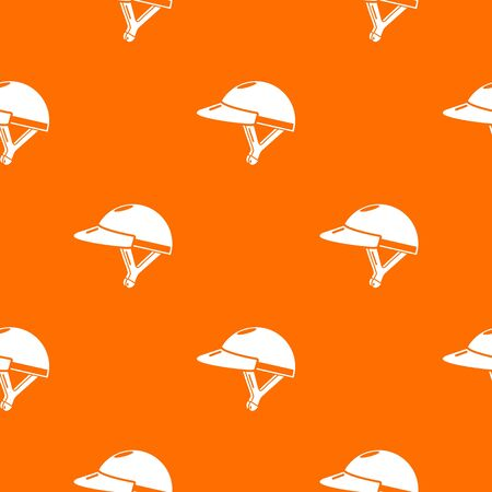 Bike helmet girl pattern vector orange for any web design best